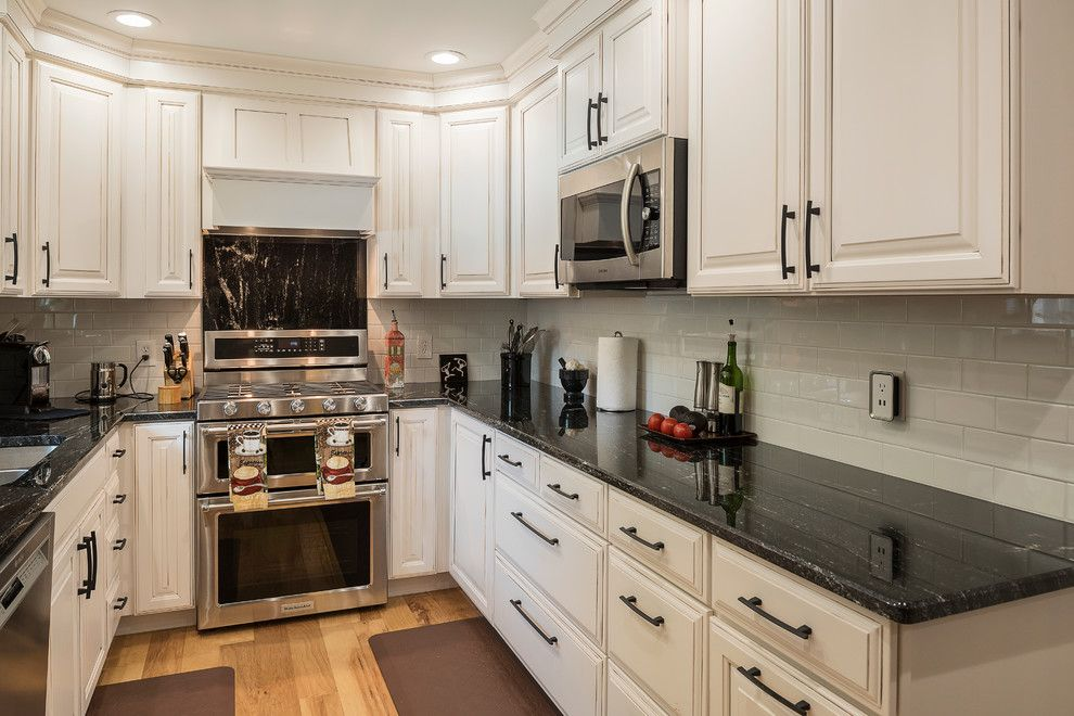 Solera Sinks for a  Kitchen with a Black Hardware and Davis Kitchen by Morrell Construction