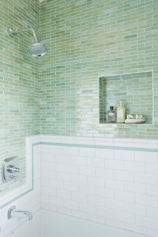 Sonoma Tile for a Traditional Bathroom with a 3 X 6 Handmade Subway Tile and 35th Street Bath by George Interior Design