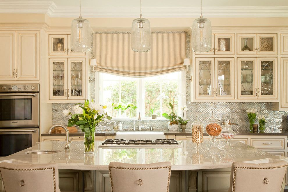 Sonoma Tile for a Traditional Kitchen with a Beige Trim and 10th Street by George Interior Design