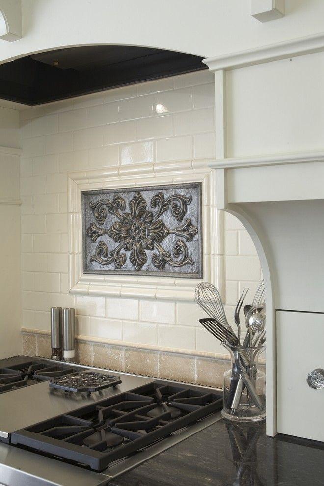 Sonoma Tile for a Traditional Kitchen with a Tile Backsplash and Kitchen Range by Hendel Homes