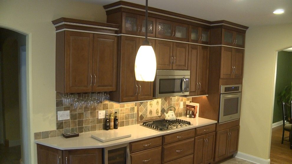South Dade Lighting for a Traditional Kitchen with a Tile Floors and Tim P by Curtis Lumber Ballston Spa