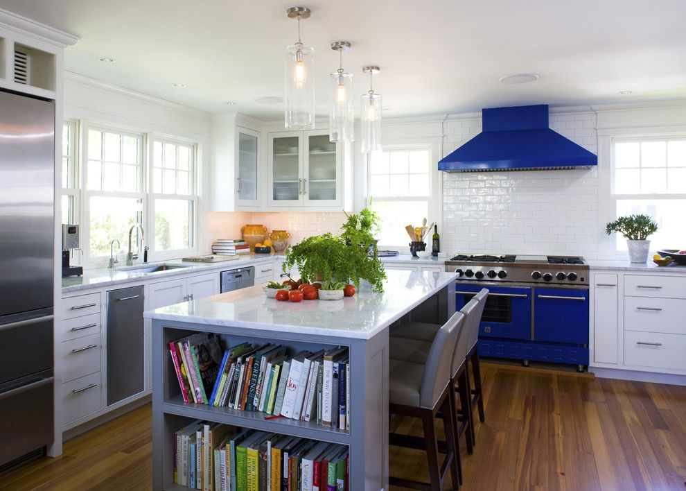 Southern Lights Mn for a Beach Style Kitchen with a Kitchen Island and the Passage by Siemasko + Verbridge