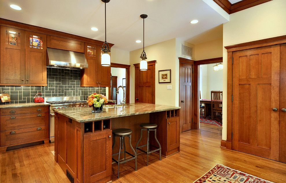 Southern Lights Mn for a Craftsman Kitchen with a Wood Cabinets and Craftsman Inspired Kitchen by Brooke B. Sammons