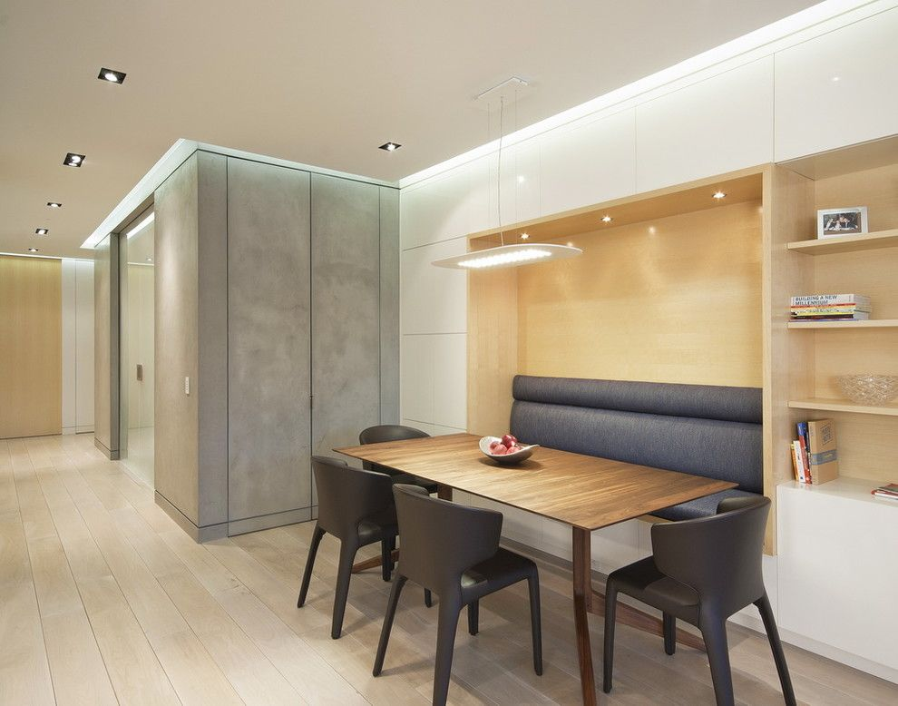 Southern Lights Mn for a Modern Dining Room with a Black Dining Chairs and Upper West Side Combo by Studiolab, Llc