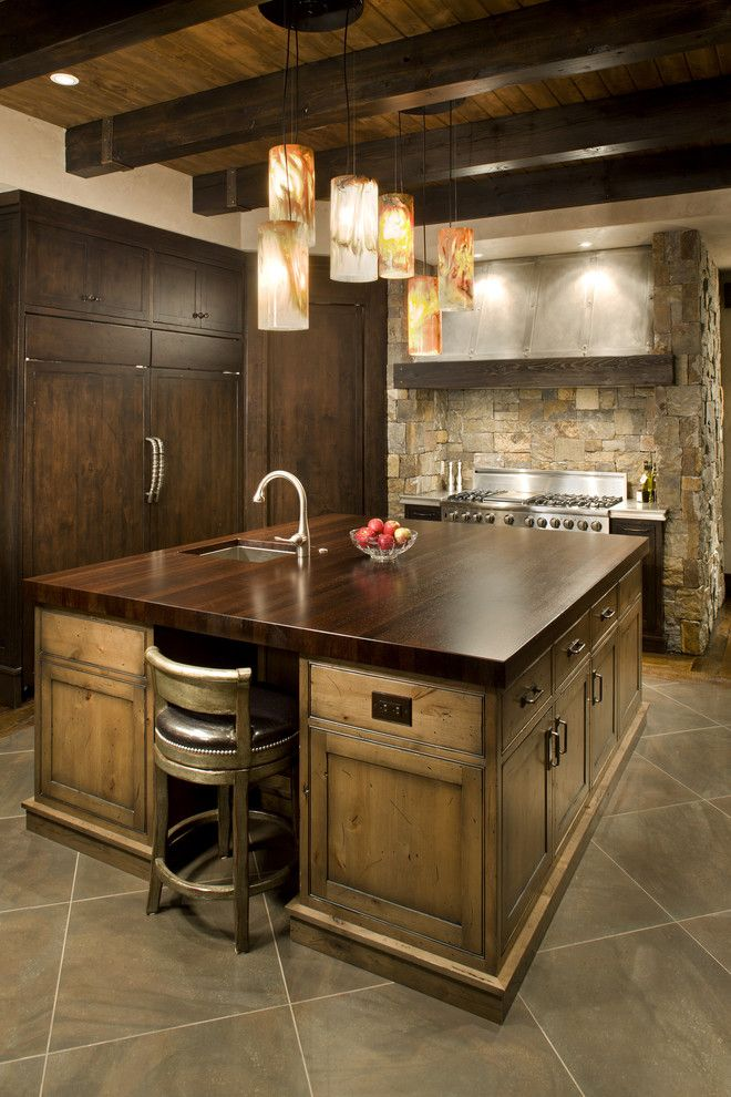 Southern Lights Mn for a Rustic Kitchen with a Stainless Steel Appliances and Eclectic Kitchen by John Kraemer & Sons
