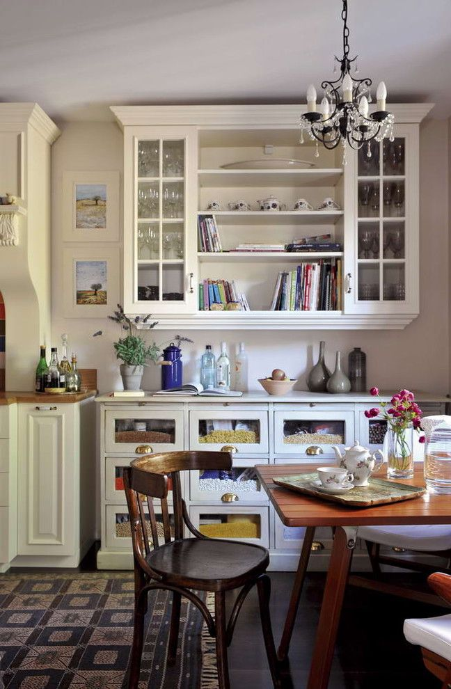 Southgate Glass for a Eclectic Kitchen with a Sideboard Storage and Vintage,Old Style by Gogo Gulgun Selcuk
