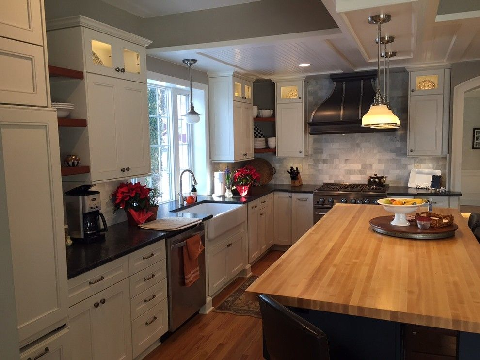 Southgate Glass for a Traditional Kitchen with a Kraftmaid and Traditional Kitchen by Innovations by Vp