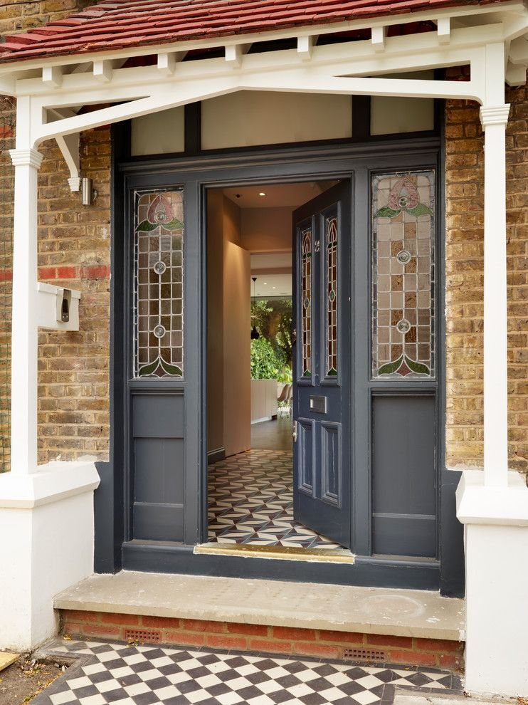 Southgate Glass for a Victorian Entry with a Stained Glass Panels and Victorian Entrance by Kitchenarchitecture.co.uk