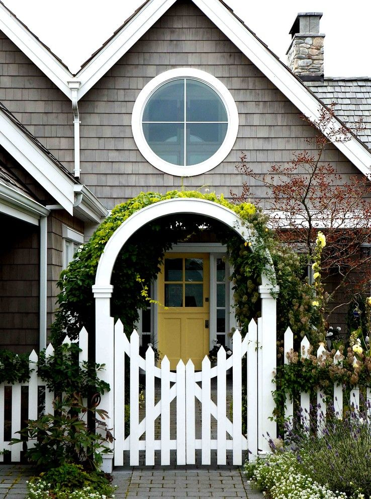 Southgate Glass for a Victorian Landscape with a Front Door and Entry Gate. by Dan Nelson, Designs Northwest Architects