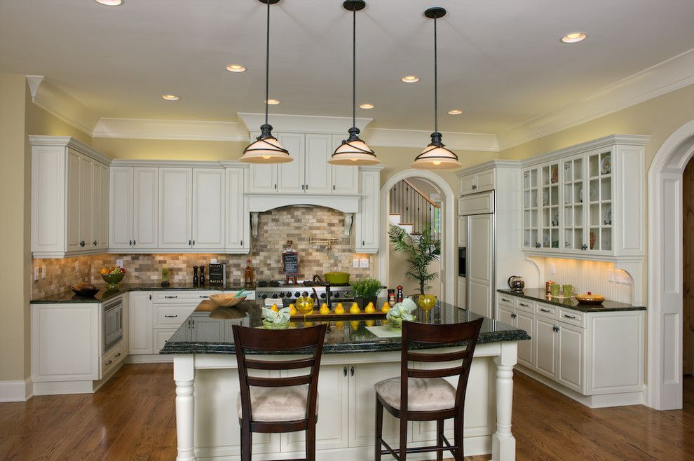 Spenard Builders Supply for a Traditional Kitchen with a Tile Backsplash and Beechtree Bay by Grainda Builders, Inc.