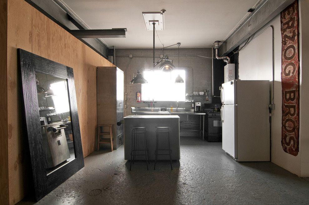 Spencers Appliance for a Industrial Kitchen with a Vintage Signs and Spencer and Alex by Lucy Call