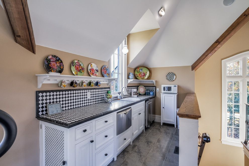 Spencers Appliance for a Traditional Kitchen with a Black Hardware and Spencer by David Rosenkranz Custom Homes