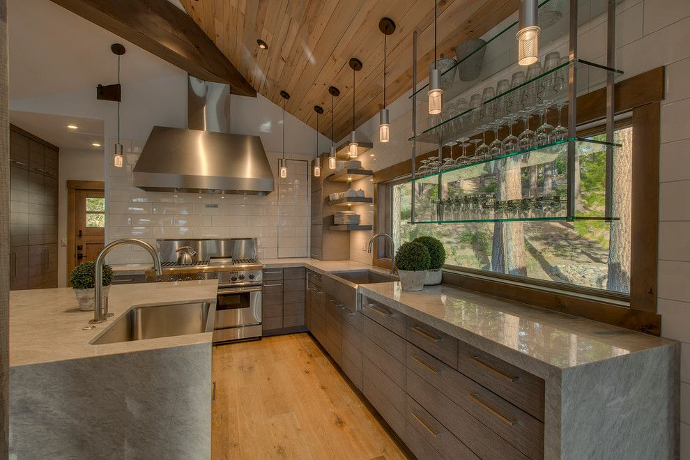 Spencers Appliances for a Rustic Kitchen with a Tile Back Splash and Spencer by Scott Corridan Design