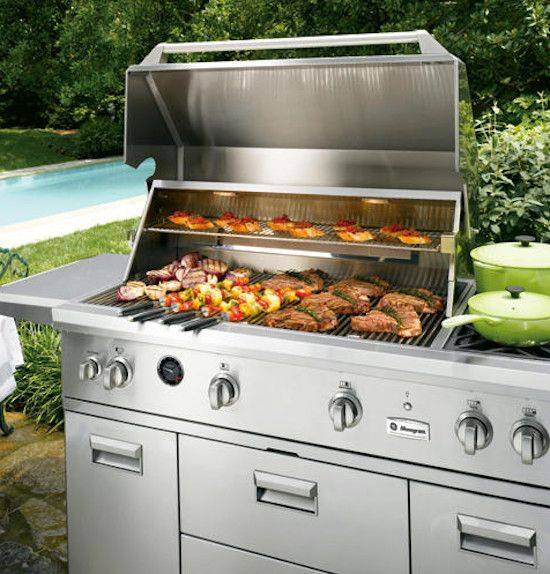 Spencers Appliances for a  Spaces with a Backyard Grill and Ge Outdoor Grill by Spencer's Tv and Appliance
