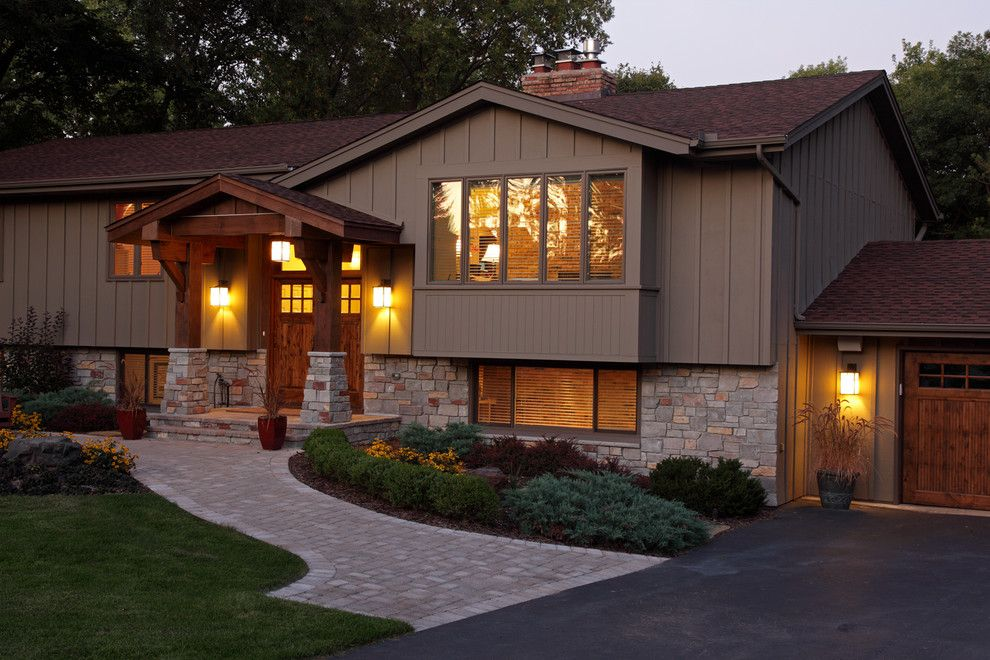 Split Level Remodel for a Traditional Exterior with a Double Doors and Exterior by Knight Construction Design Inc.