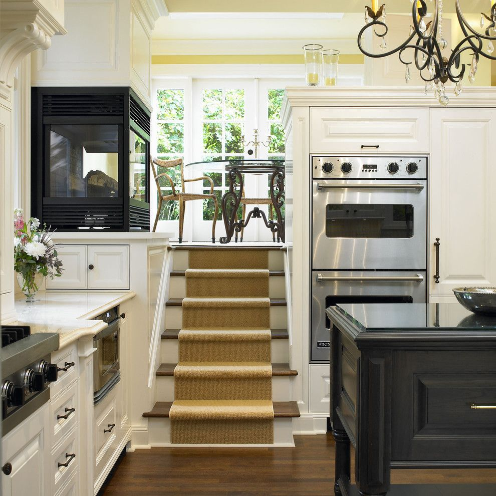Split Level Remodel for a Traditional Kitchen with a Loft and Rattenbury Kitchen by the Sky is the Limit Design