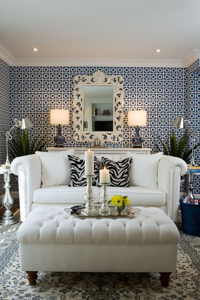 Sprintz Furniture for a Contemporary Living Room with a Blue and White and Toronto Town Home by Colin & Justin