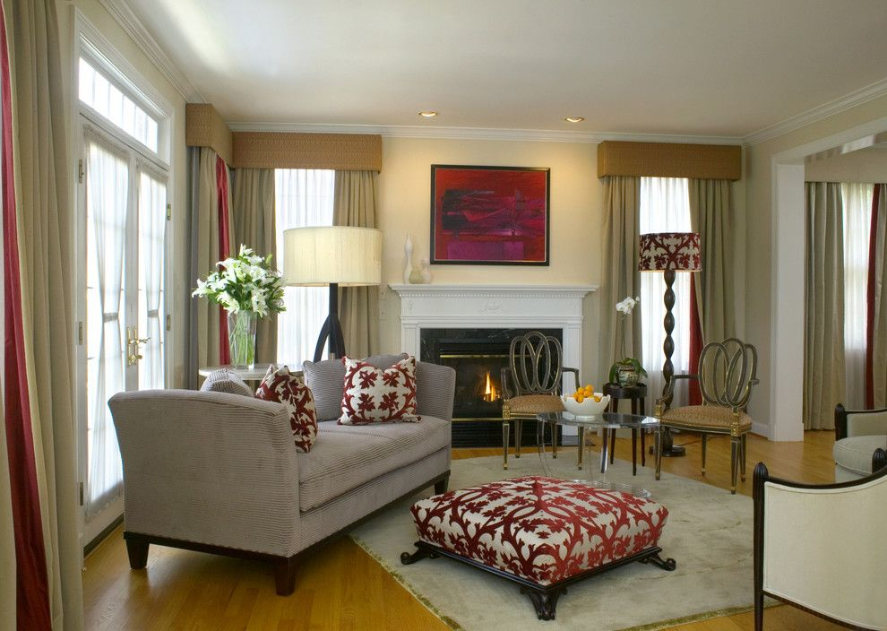 Sprintz Furniture for a Traditional Living Room with a Glass Doors and Portfolio Photographs   Room in Red by Patrick J. Baglino, Jr. Interior Design