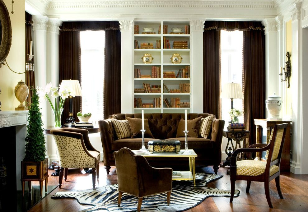 Sprintz Furniture for a Traditional Living Room with a Tufted Sofa and Regents Park by Malone Construction Company