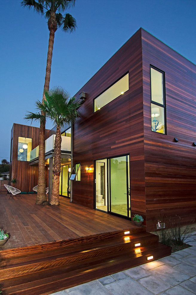 St Aubyn Homes for a Contemporary Deck with a Wood Siding and Los Angeles Home Staging | Wade St., Mar Vista by Modern Mecca™ | Los Angeles Home Staging