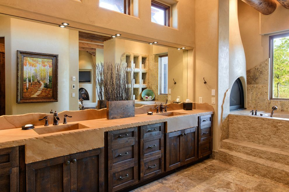 St Aubyn Homes for a Southwestern Bathroom with a Southwest Style and Cielo Azul / 2009 St. George Parade of Homes by Andrews Home Design Group Llc