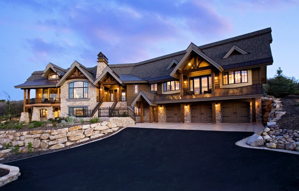 St Aubyn Homes for a Traditional Exterior with a Ski Lodge and Thompson Residence by Highland Group