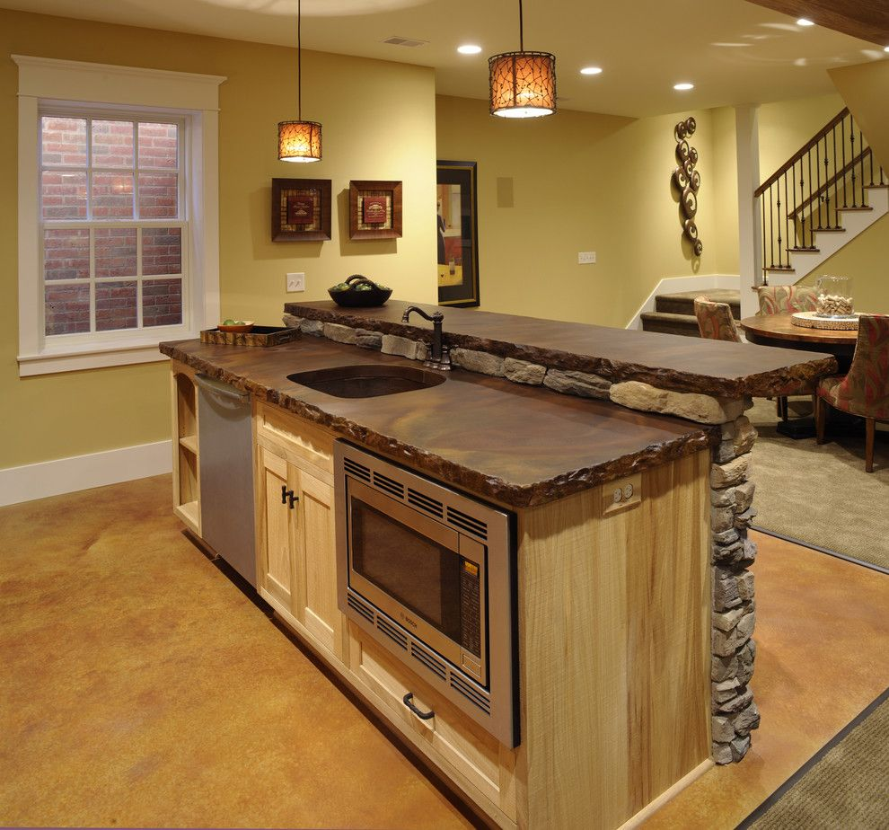 Stained Concrete Countertops For A Traditional Basement With A Traditional  And Ackerly Park ~ New Albany