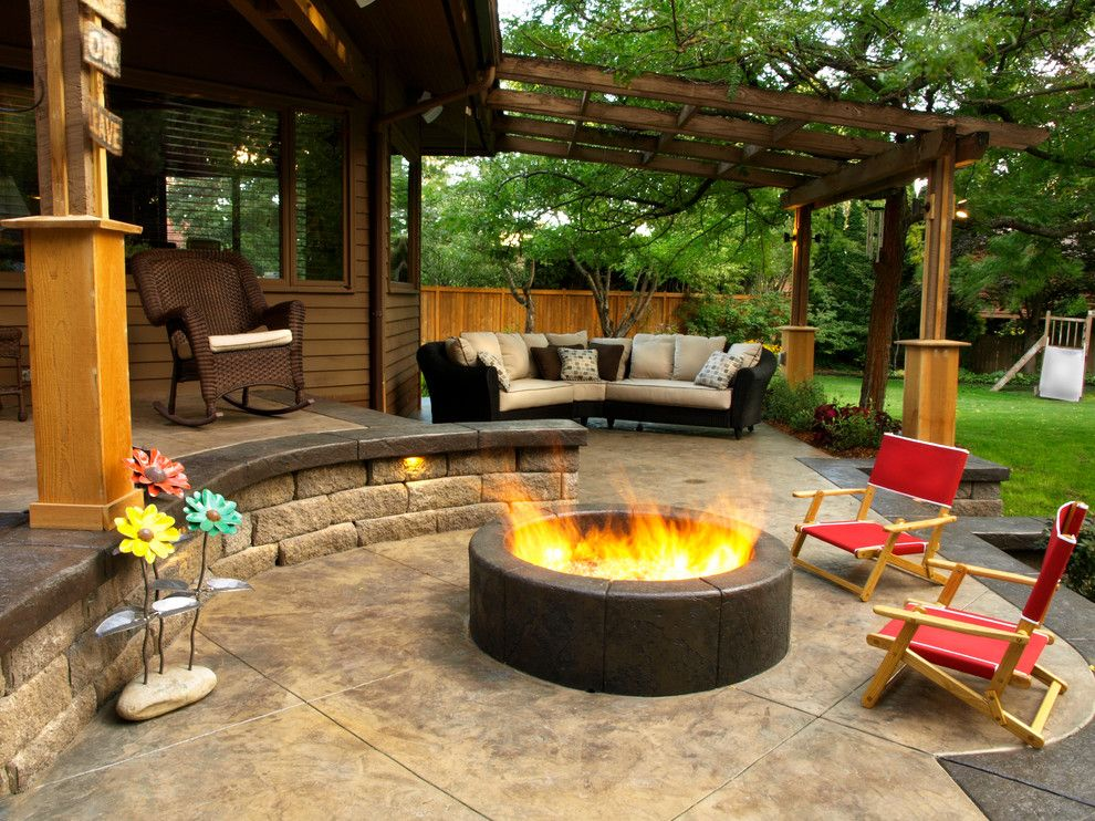 Fine Stained Concrete Patio Modern With Sunset And Design Ideas