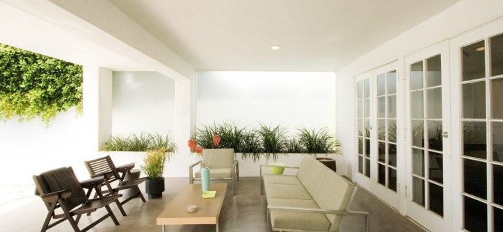 Stained Concrete Patio for a Modern Patio with a Planters and 918 by Emily Jagoda
