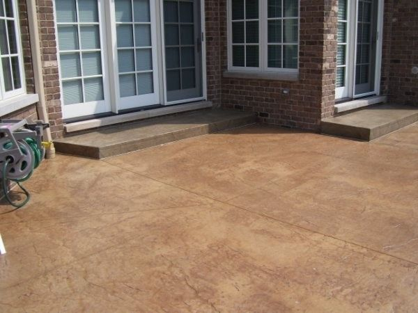 Stained Concrete Patio For A Modern Patio With A Waterproofing And Stamped  Concrete Patio   LastiSeal