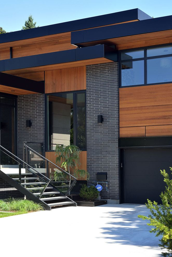 Staining Brick for a Contemporary Exterior with a Angular and Bisson Ranch by Upside  Development