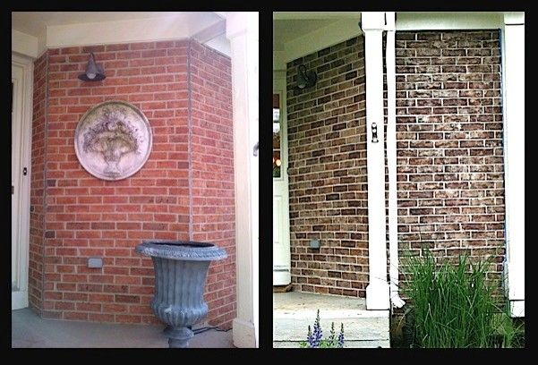 Staining Brick for a Traditional Spaces with a Refinishing and Crystal Lake, Il Exterior Brick Staining Project by Brick Transformers