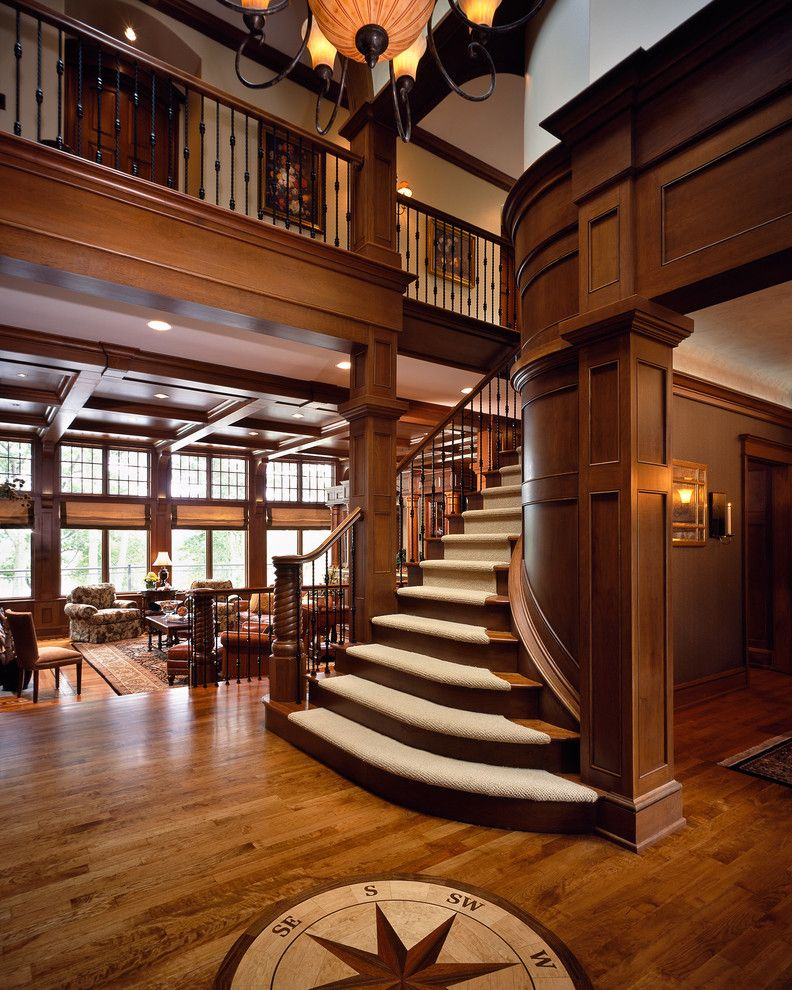 Stanton Carpet for a Traditional Staircase with a Traditional and Saratoga Lake House by Wallant Architect