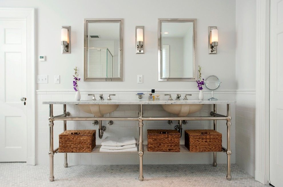 Stardust Building Supplies for a Traditional Bathroom with a Bathroom Tile and Bathrooms by Cw Design, Llc