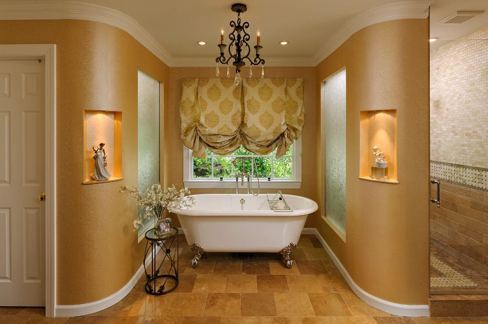 Stardust Building Supplies for a Traditional Bathroom with a Window Treatments and Versailles in Vienna, Virginia by Courthouse Design/build   Kitchens & Baths