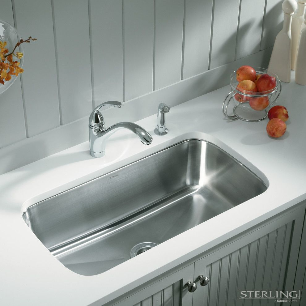 Starfire Glass for a Contemporary Kitchen with a Glass Bowl and Sterling Plumbing by Sterling Plumbing