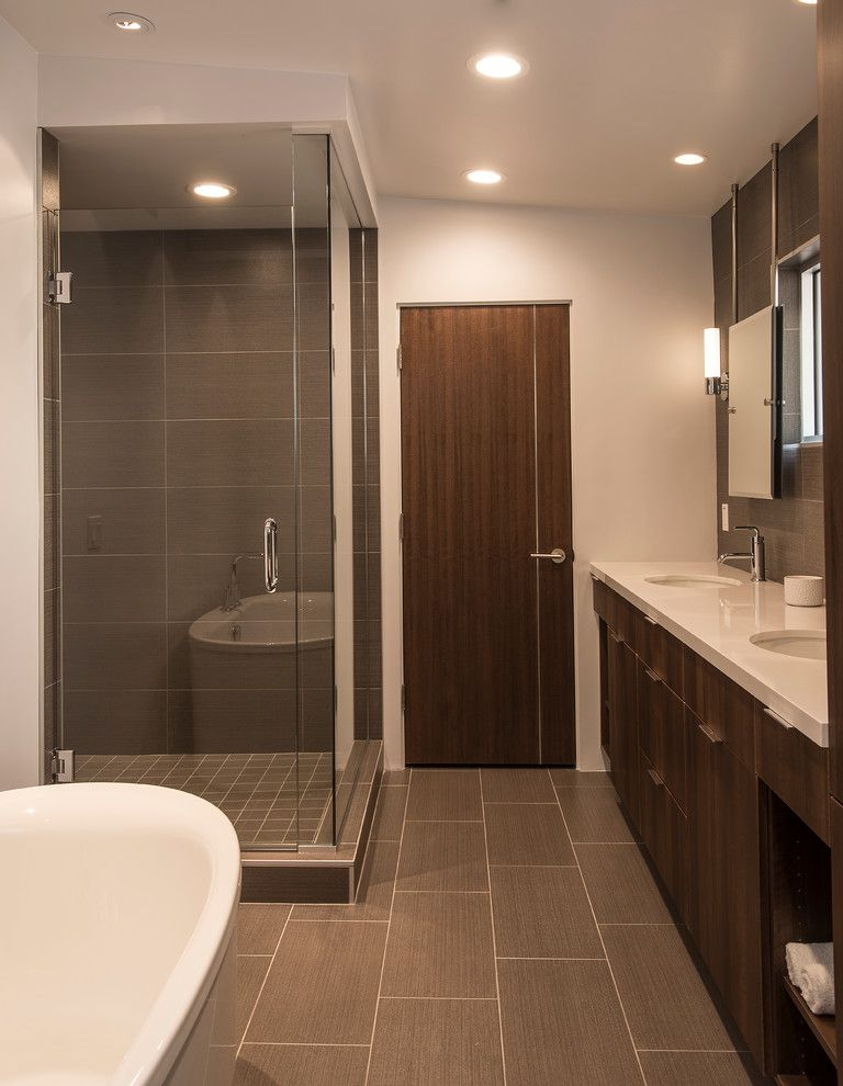 Starion for a Contemporary Bathroom with a Structural Steel and Contemporary Interiors by Starion Custom Residences