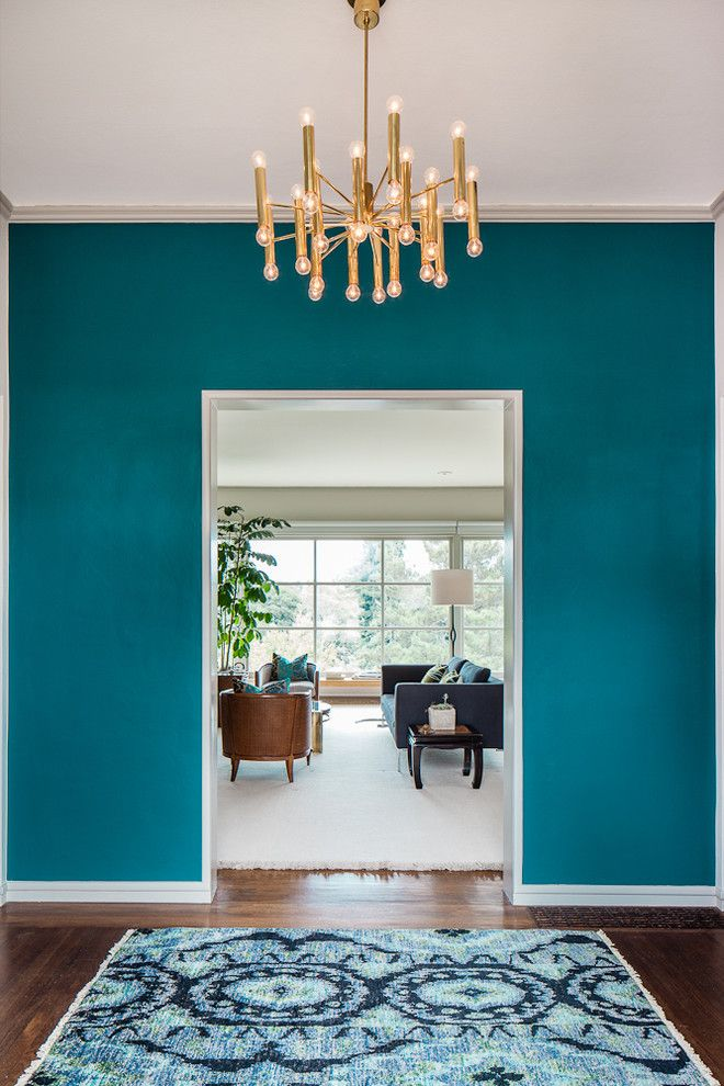 Stark Carpet for a Contemporary Entry with a Crown Molding and Entry Way by Cheryl Burke Interior Design