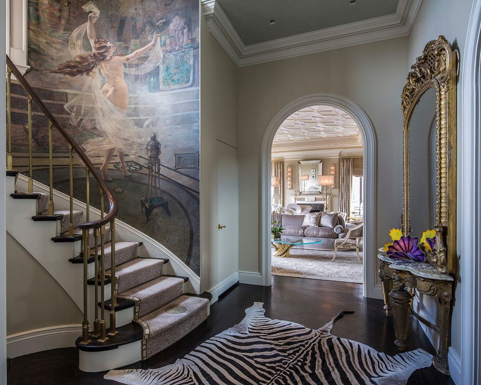 Stark Carpet for a Traditional Staircase with a Hallway and Charles Pavarini 778 Park Ave Penthouse by Stark Carpet