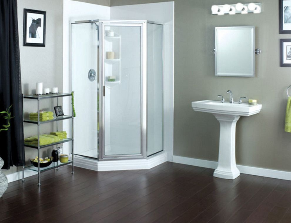 Statewide Remodeling for a Contemporary Bathroom with a Shower and Bathroom Remodels by Statewide Remodeling