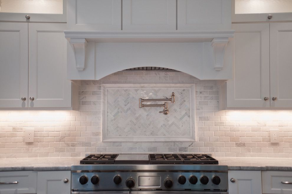 Statuary Marble for a Traditional Kitchen with a Pot Filler and Tenafly NJ Custom Estate by Michelle Winick Design