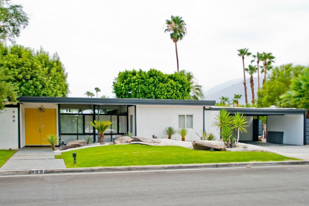 Steamboat Springs Elevation for a Midcentury Exterior with a Hollywood Regency and the Park Residence   Palm Springs by Modshop   La, Oc, Ny, Palm Springs & Miami