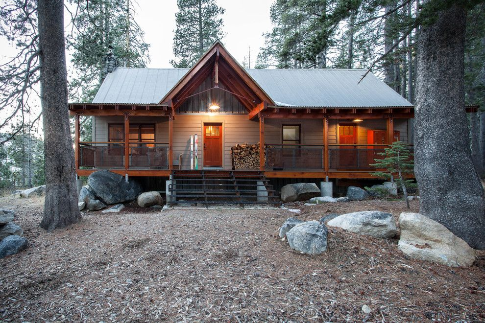 Steamboat Springs Elevation for a Rustic Exterior with a Cabin and Soda Spring Residence by Kat Alves Photography