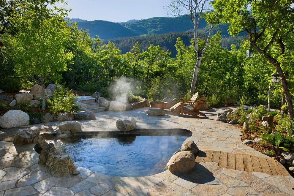 Steamboat Springs Elevation for a Rustic Pool with a Mountain Homes and Steamboat Storm Meadow Drive Mountain/asian Fusion by Trilogy Partners