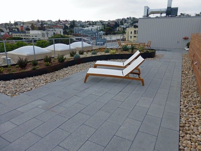 Stepstone Inc for a Contemporary Patio with a Rooftop ... Stepstone