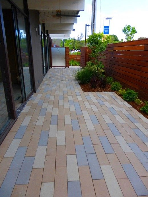 Stepstone Inc for a Transitional Patio with a Narrow Modular Pavers and Palo Alto Contemporay Project by Stepstone Inc
