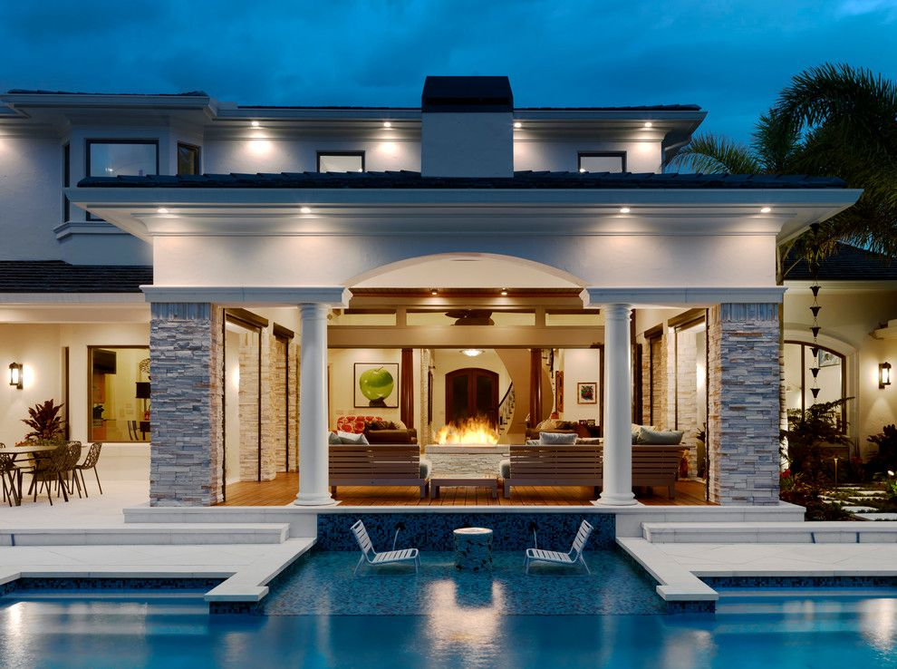 Stone Mart Tampa for a Contemporary Pool with a Lighting and the Albury House by the Fechtel Company