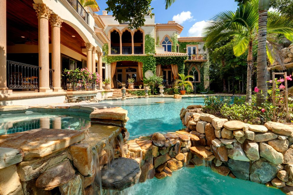 Stone Mart Tampa for a Mediterranean Pool with a Vines and 4011 Higel Siesta Key by Perrone Construction Custom Homes