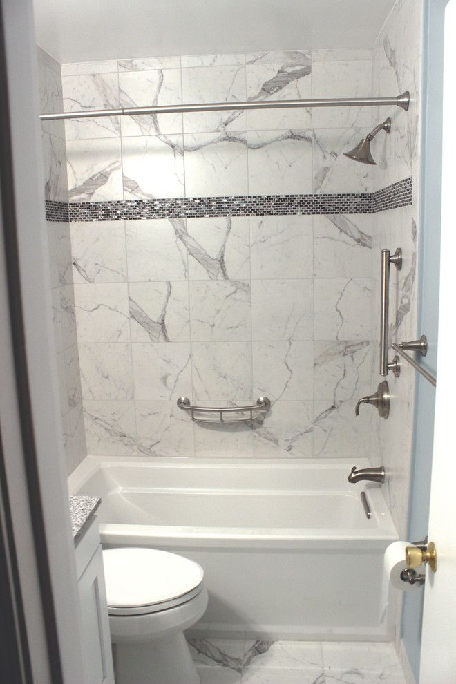 Stonepeak Ceramics for a Traditional Bathroom with a Shower and the Classic Collection by Stonepeak by Best Tile