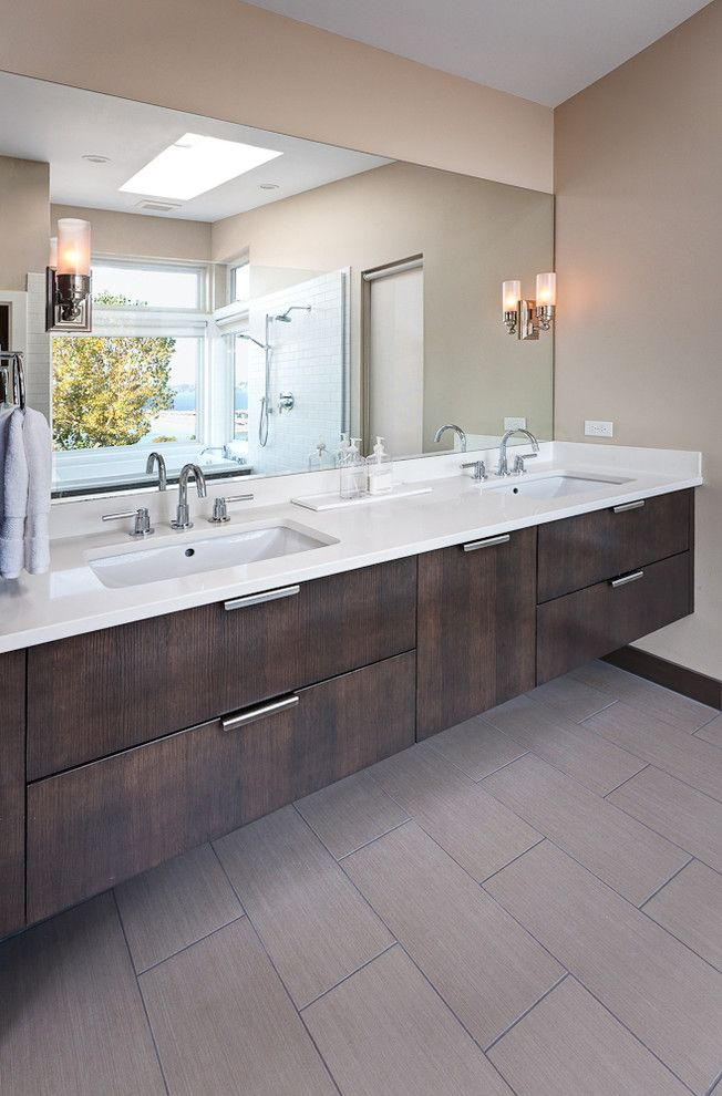 Sugatsune for a Contemporary Bathroom with a Bathroom Lighting and Dyna   Mt Baker2 by Dyna Contracting